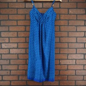 SHOSHANNA Silk Chain Link Print Dress Blue SIze 0